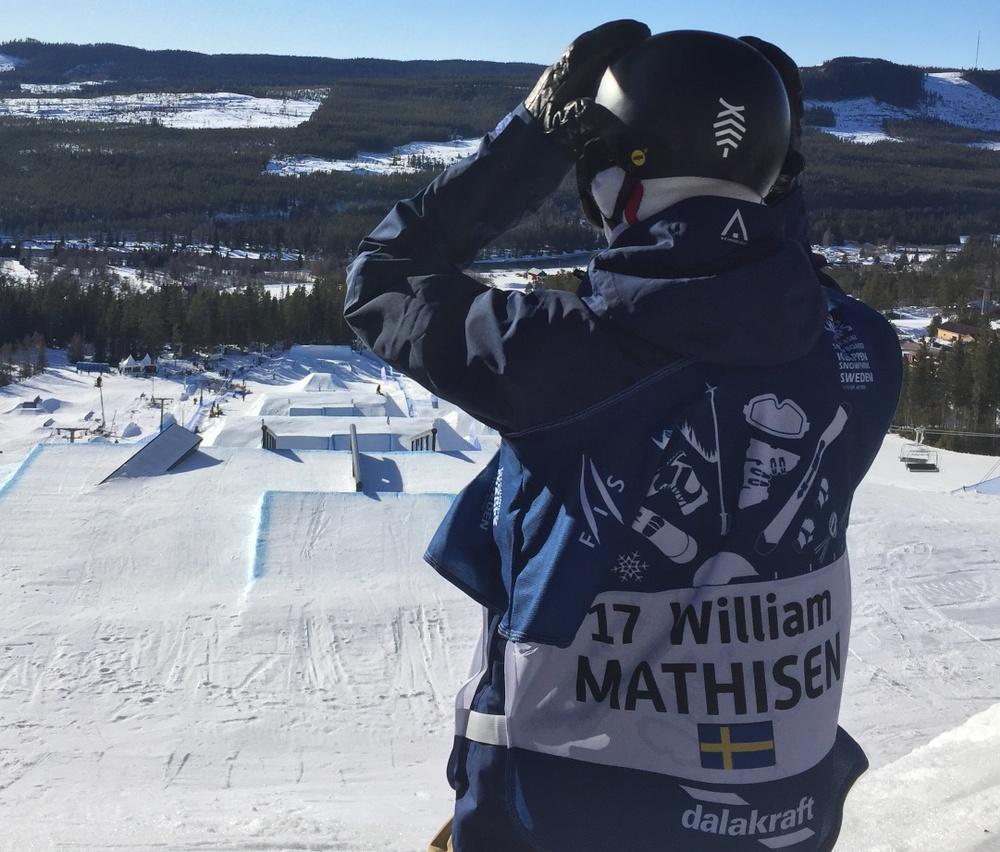 William Mathisen gör sig redo för start. Foto av Calle Sköld