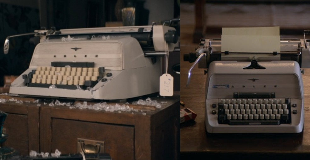 The Stand typewriter, left, and The Shining typewriter, right