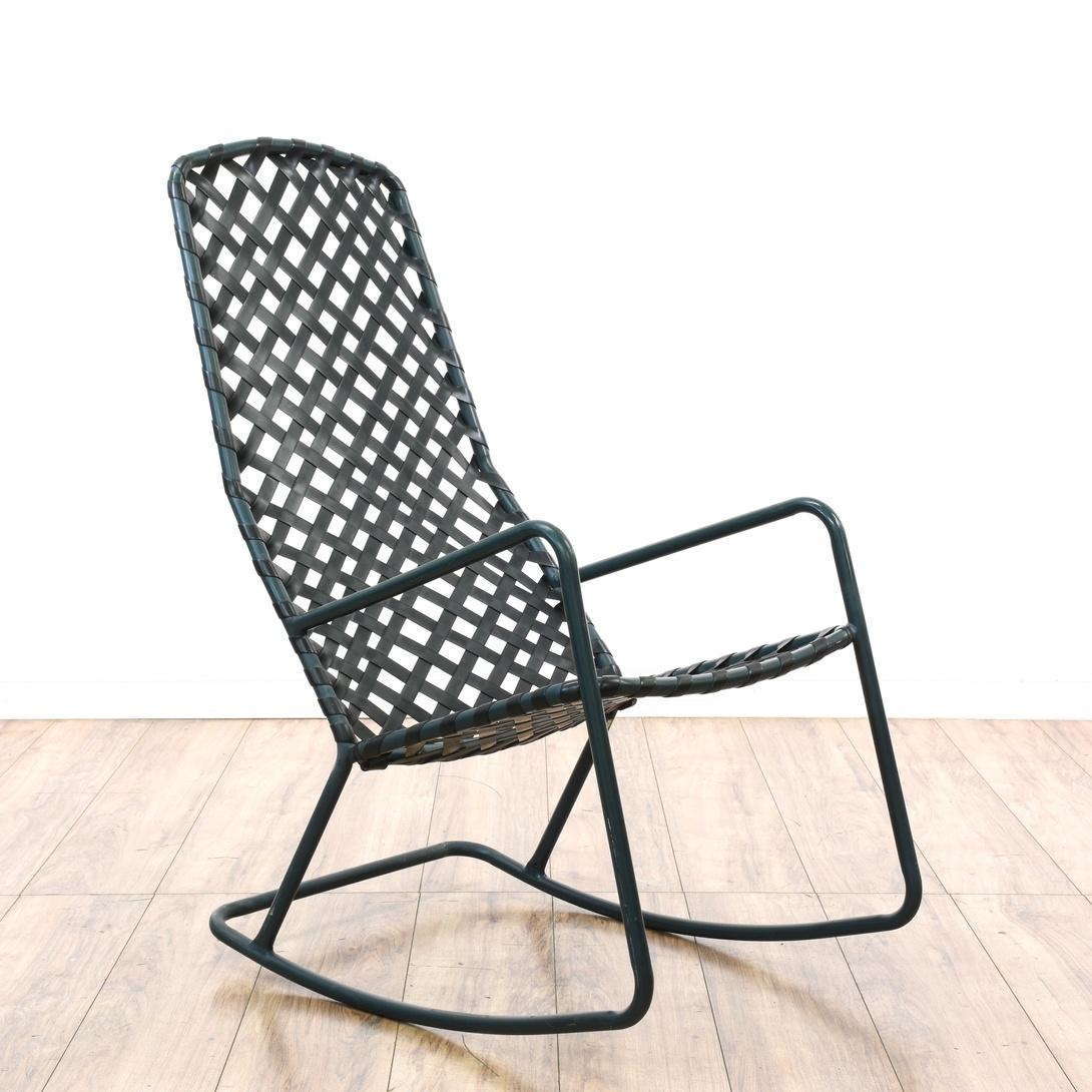 Brown Jordan Tamiami Metal Outdoor Rocking Chair Loveseat Vintage Furniture San Diego Los