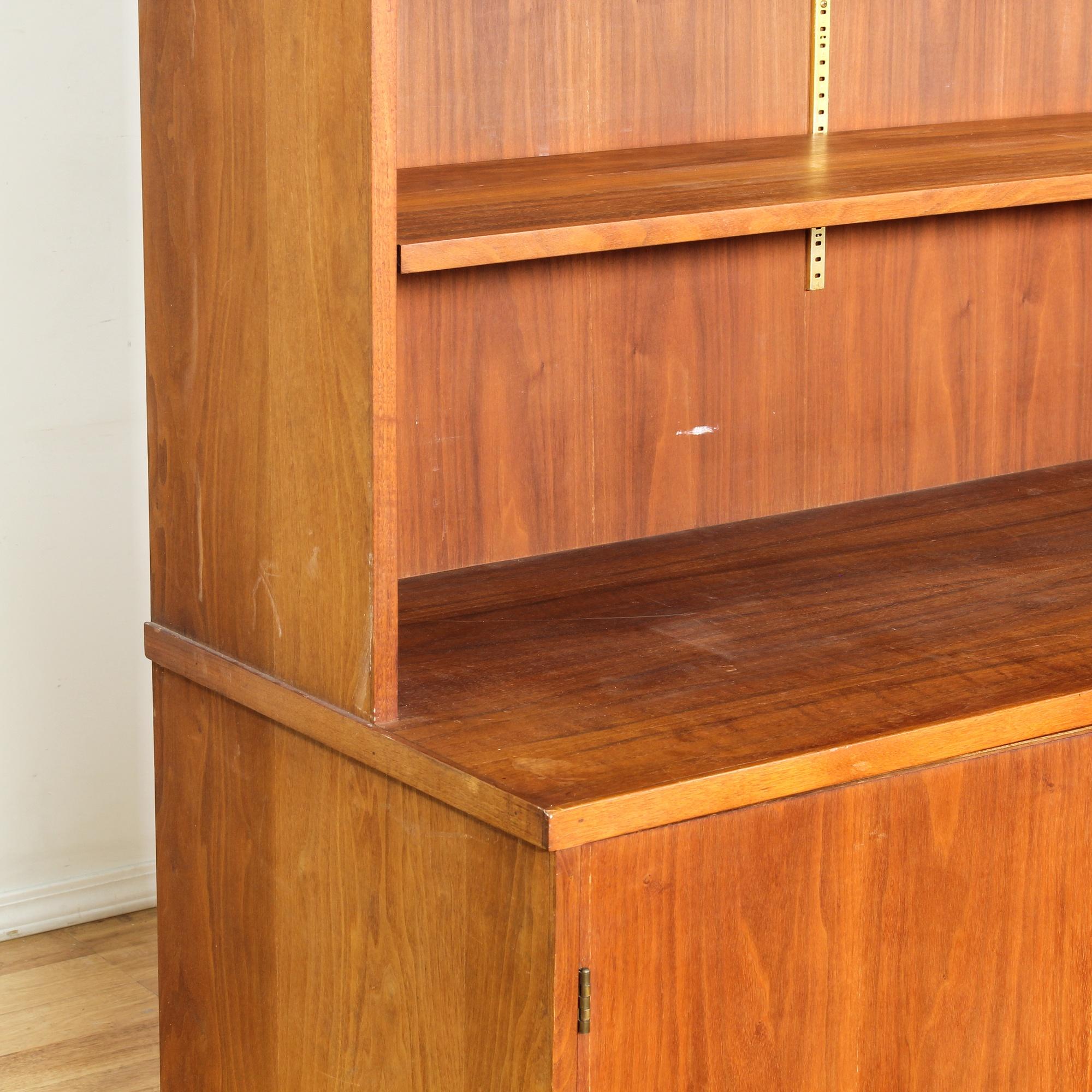 Danish modern style teak bookcase cabinet loveseat for Danish modern la