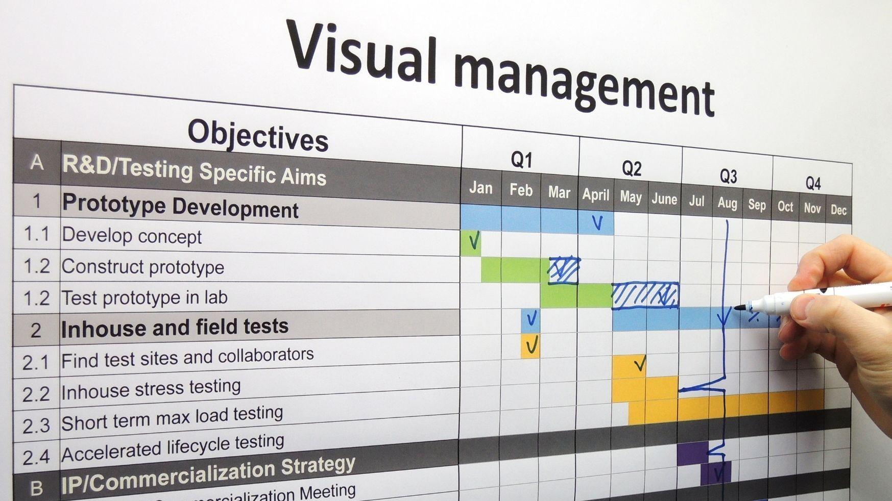 Représentation de la formation : Utiliser le Management Visuel pour coordonner les projets de ses équipes (en télétravail ou en présentiel)