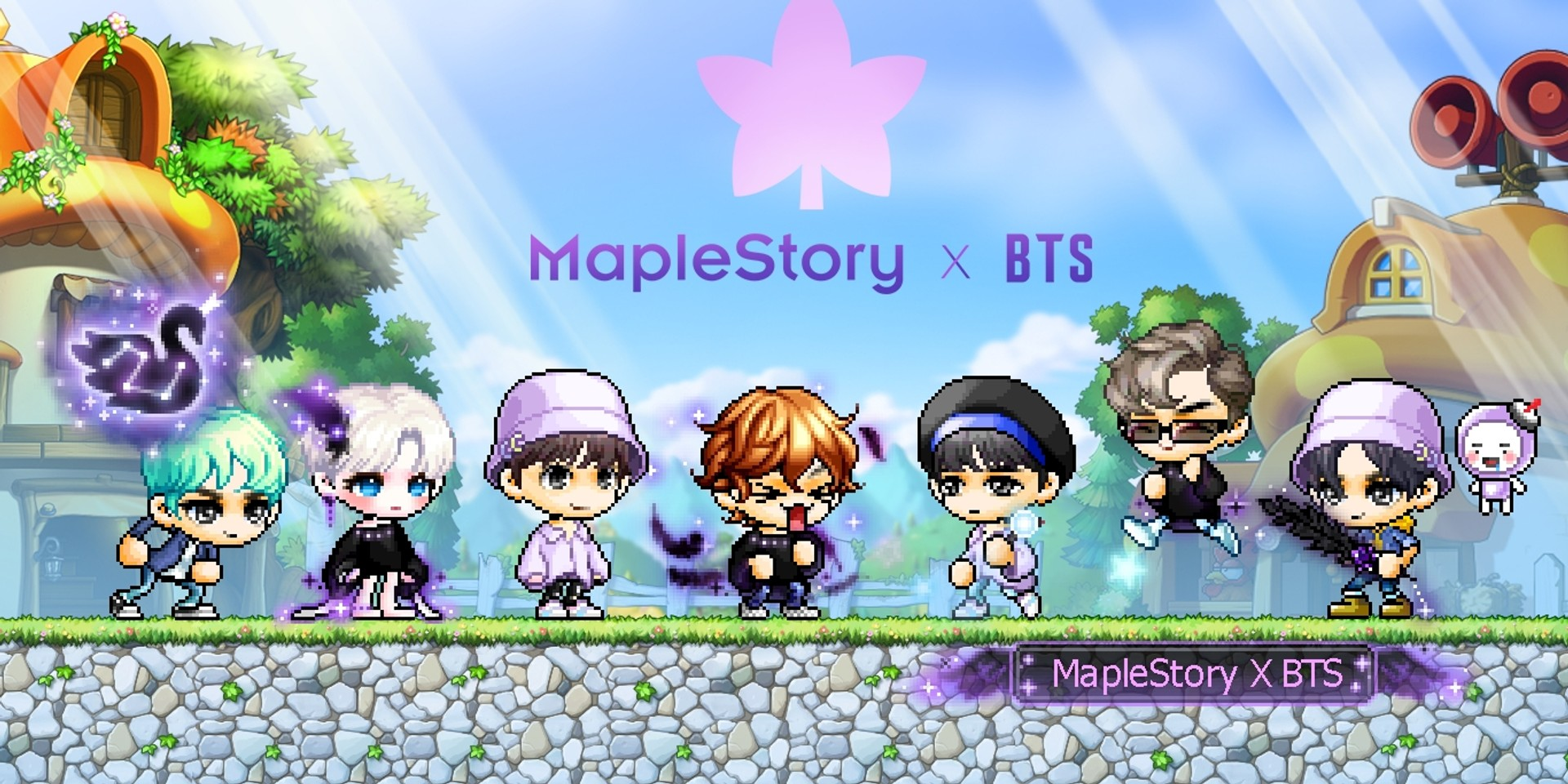 BTS unveil collaboration with online game, MapleStory