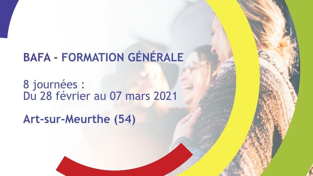 Représentation de la formation : Formation Générale BAFA Février 2021 - Art-sur-Meurthe (54)