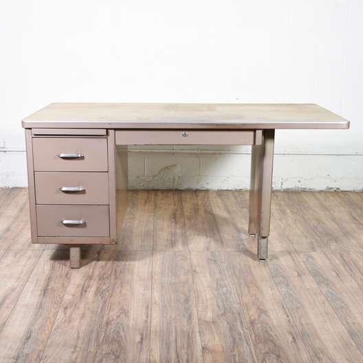 Industrial Mid Century Metal Desk