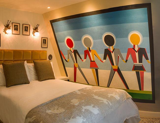 No 15 Great Pulteney, Bath: loft bedroom designed by Ian Taylor
