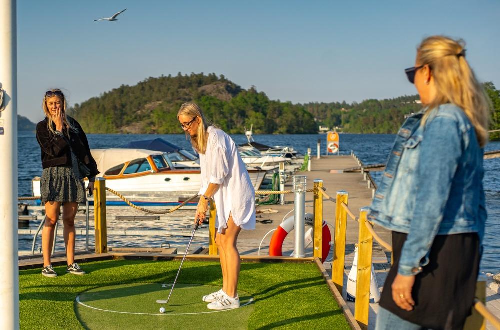 Marina influenser på Golfbaren