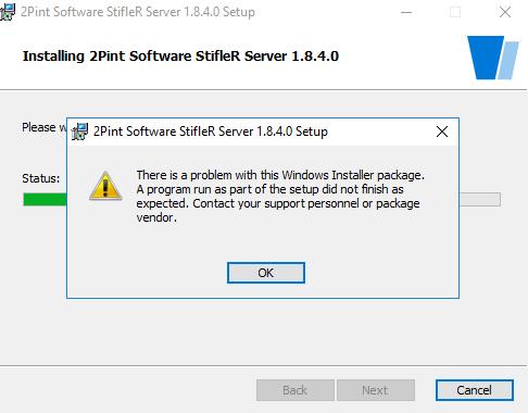 StifleR Server upgrade installation error