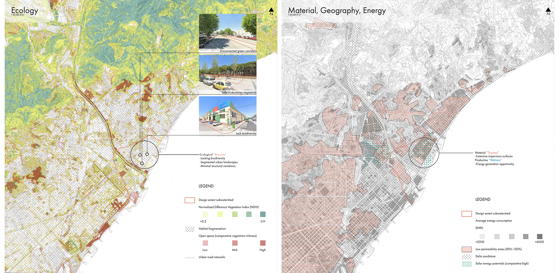 Mapping of Ecology and Material, Geography, Energy