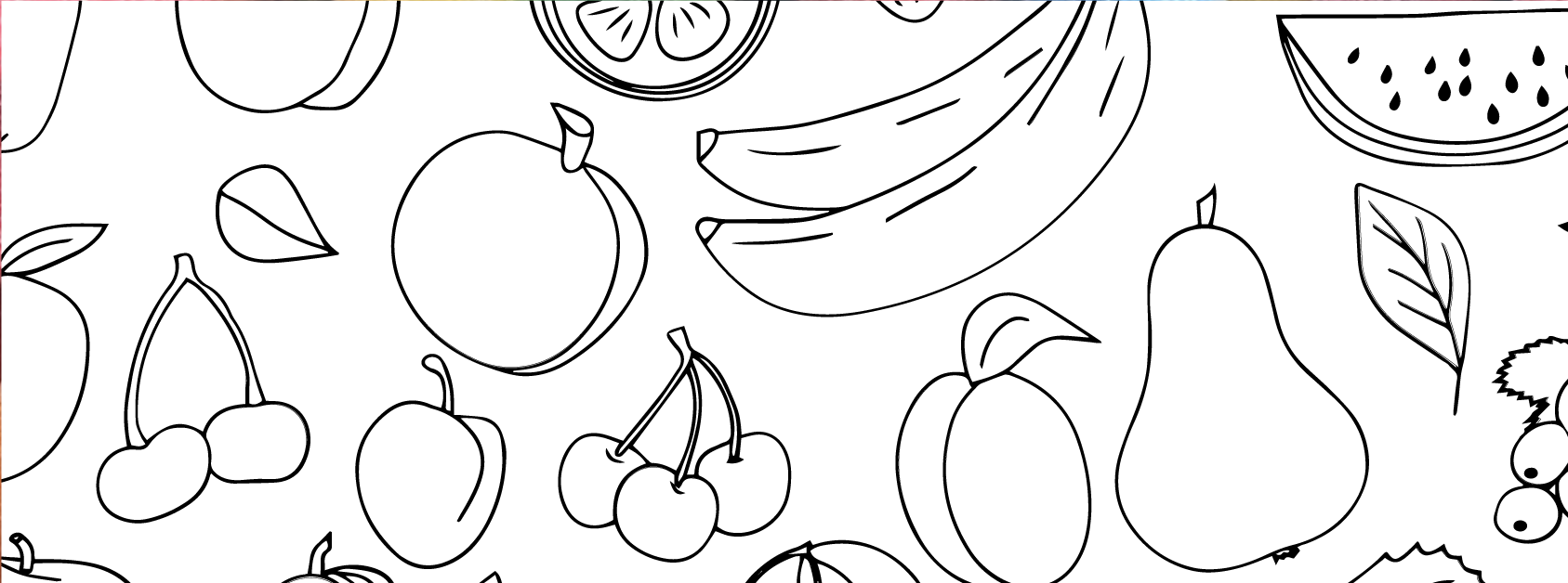 Fruit and Veggies Coloring Page