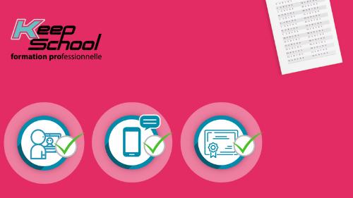 Représentation de la formation : Préparation au TEF (Test d'évaluation de français) : cours individuels en visio (60h) et e-learning