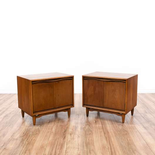 Pair of Mid Century Modern Nightstand Cabinets