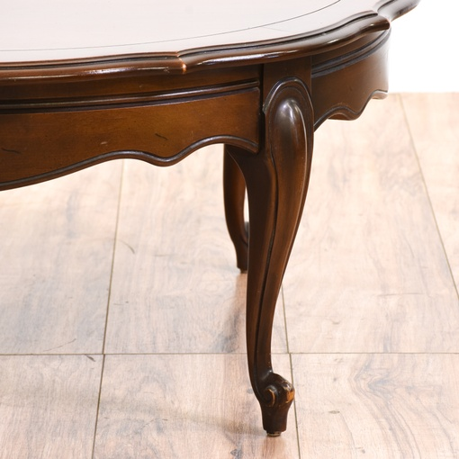French Provincial Coffee Table Set: Round French Provincial Coffee Table