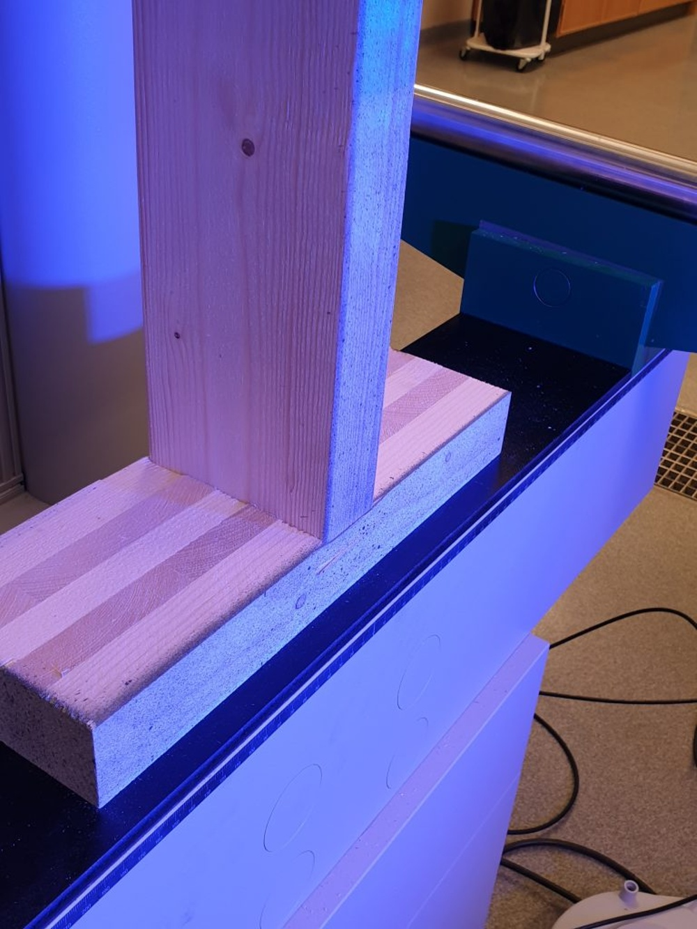 A board made of CLT can withstand four times the load of a regular wooden board.