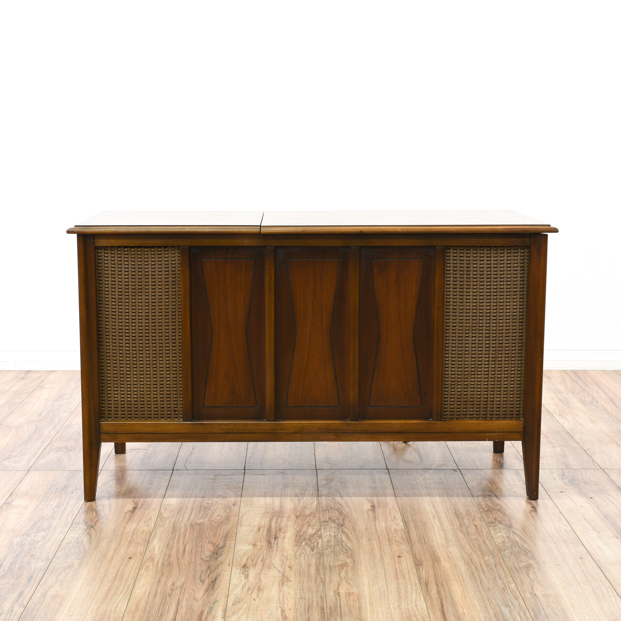 Mid century modern record player console loveseat for Mid century modern la