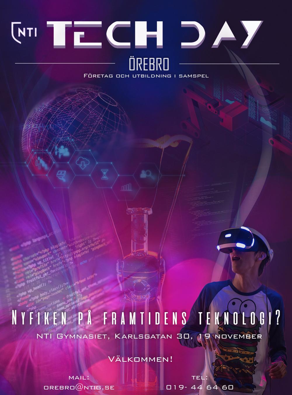 Välkommen till NTI Tech Day i Örebro den 19 november