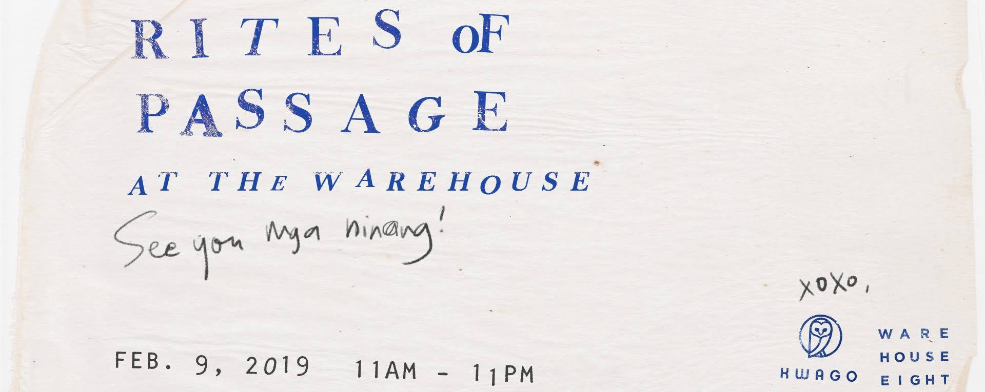 Rites of Passage at The Warehouse