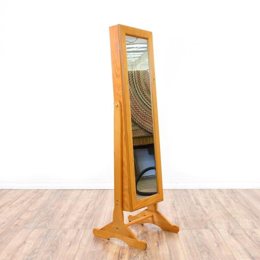 Full Length Maple Jewelry Storage Mirror | Loveseat Online ...