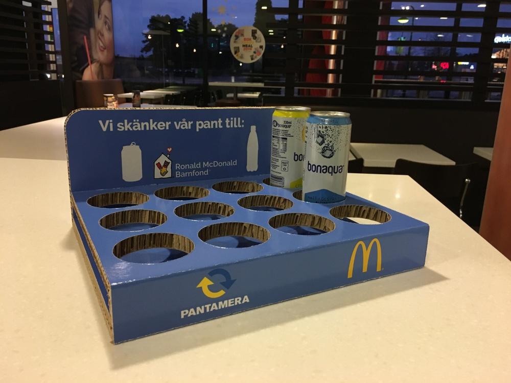 Pantbricka McDonalds Foto: Returpack