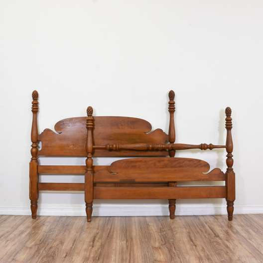 Full Size Wooden Headboard and Footboard