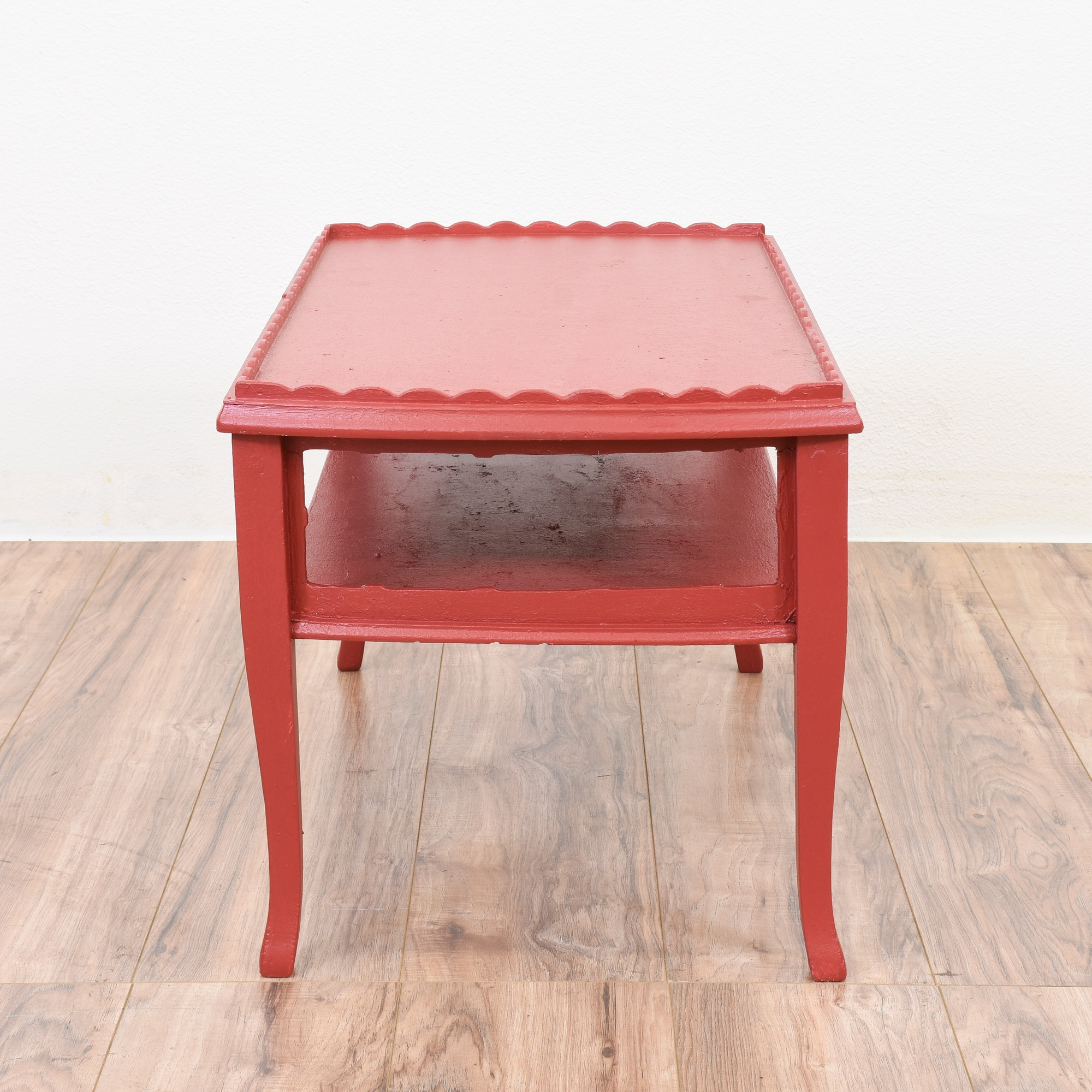 Shabby Chic Coffee Table Nz: Shabby Chic Red 2 Tiered Coffee Table