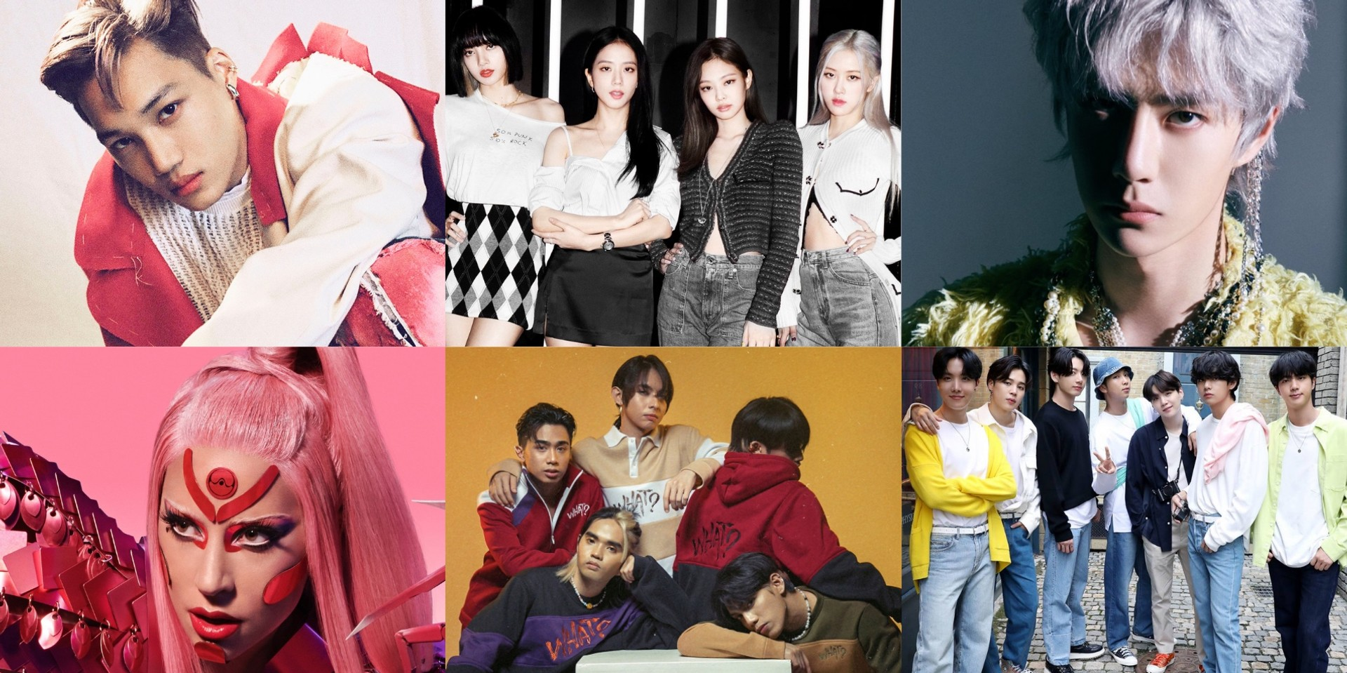 14 collaborative creations between artists and brands — featuring merchandise and collections from BTS, BLACKPINK, EXO's Kai, SB19, Wang Yibo, and more