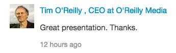Tim O'Reilly SlideShare comment