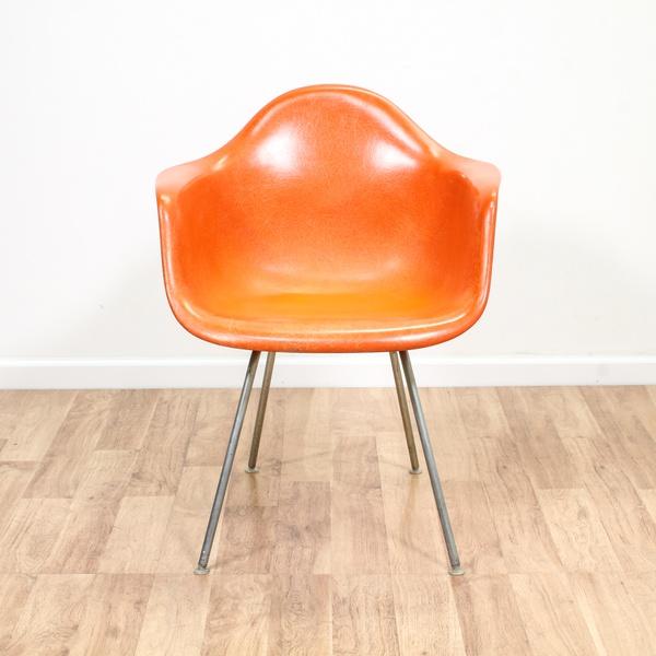 Mid Century Modern Brown Velvet Sofa
