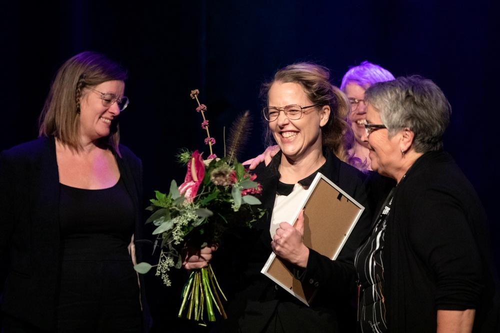 Anna Sundström Lindmark, vinnare av stipendiet Berättarkraft 2019. Foto: Patrick Degerman.