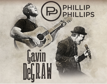 IAH- Phillip Phillips and Gavin DeGraw, Sept. 5, 2018, gates 5pm