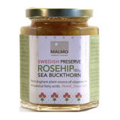 Rosehip and sea buckthorn preserve