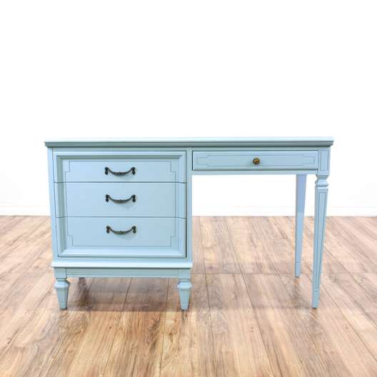 """""""Dixie"""" Light Blue Cottage Chic Desk"""