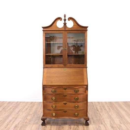 Chippendale Secretary Desk Display Case