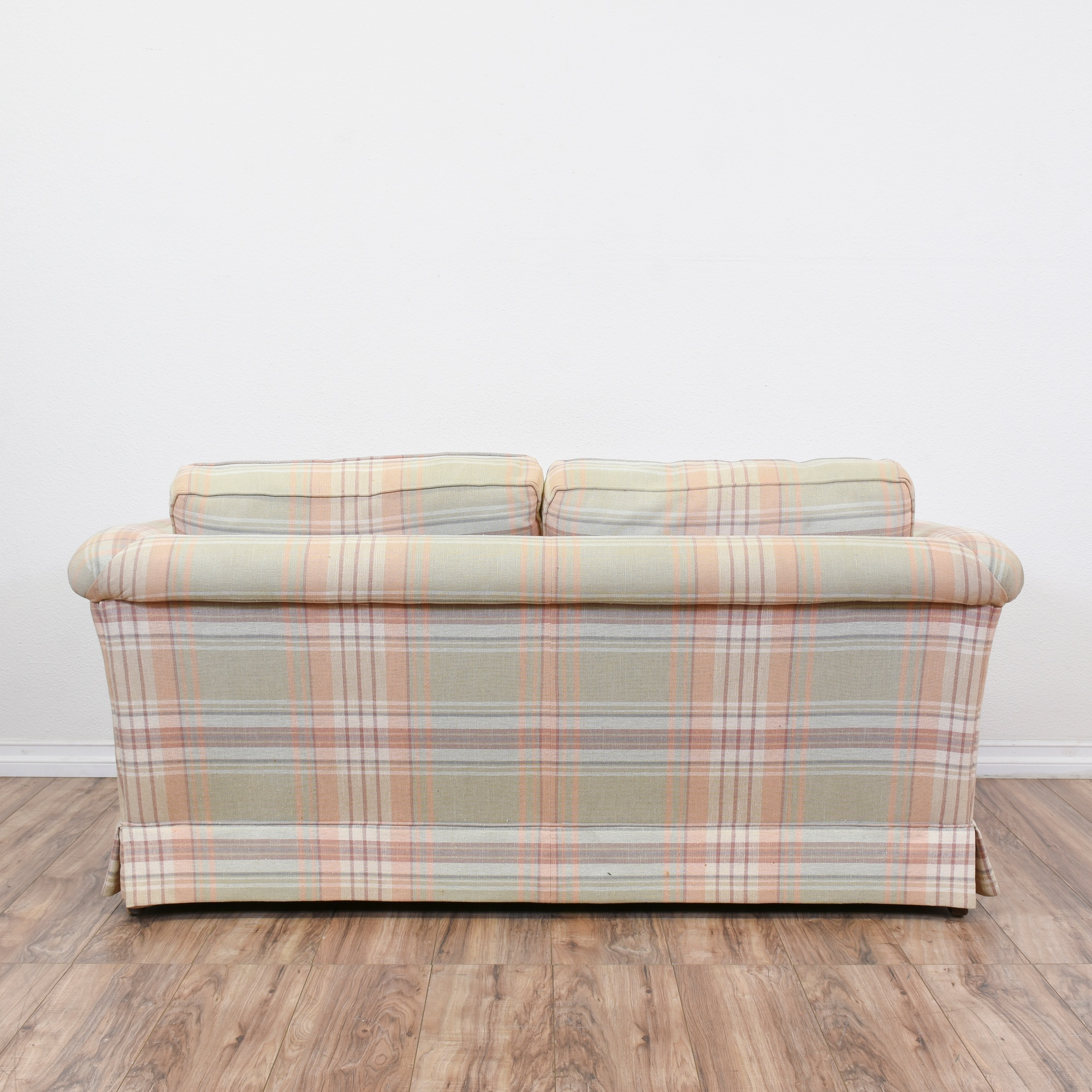 Ethan Allen Plaid Loveseat Sofa Loveseat Vintage Furniture San Diego Los Angeles