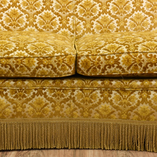 Hollywood Regency Brocade Chenille Sofa Loveseat Vintage