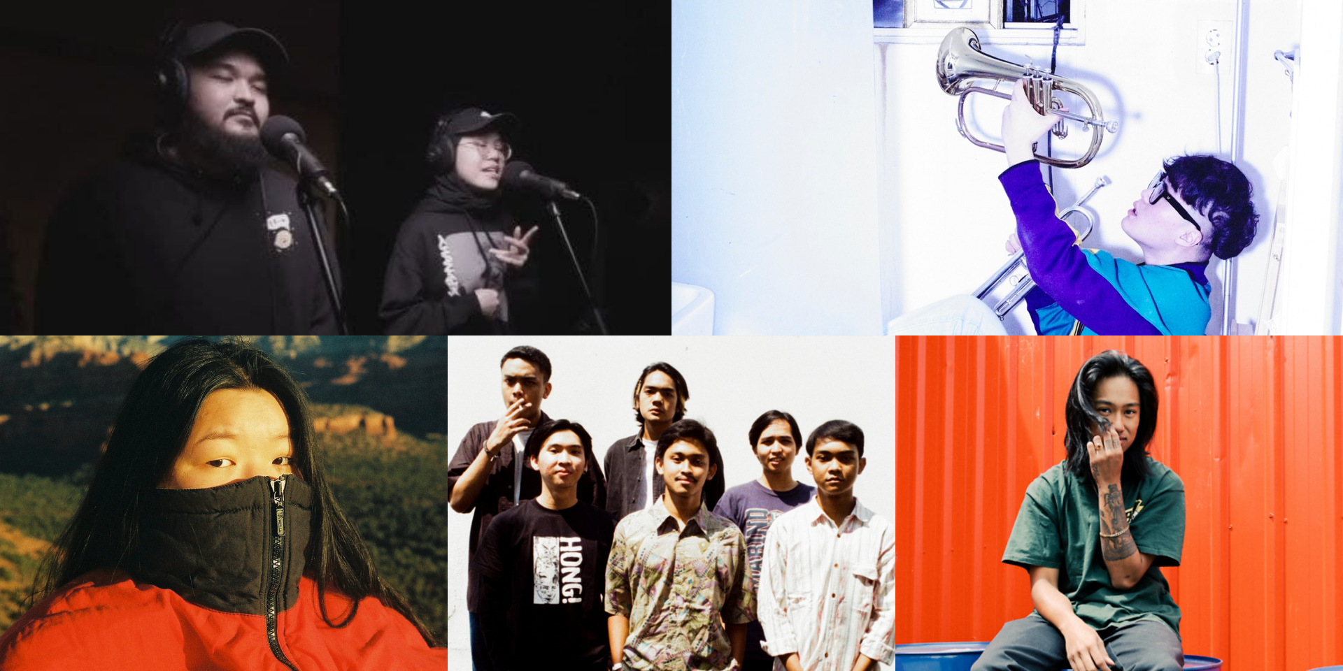 Vans Musicians Wanted 2021 Asia-Pacific top 5 finalists: Q The Trumpet, Nathanie, Squid the Kid, Kinder Bloomen, and Yishun Panik