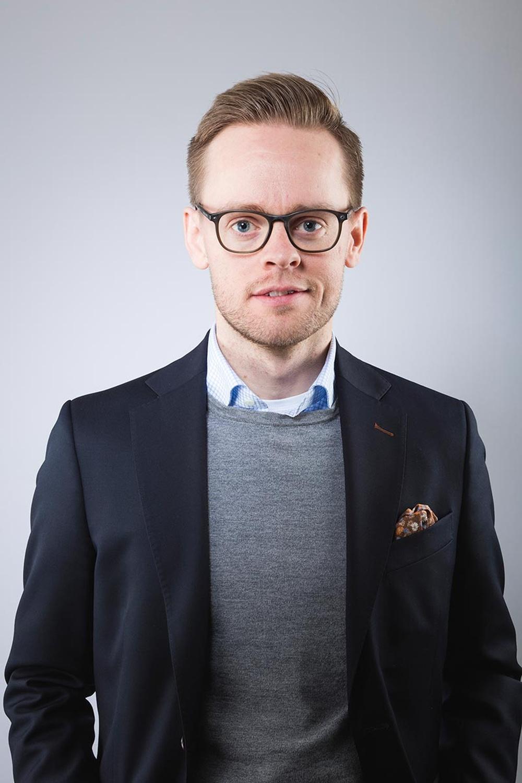 Porträttbild på Science Parks VD Gustav Österström