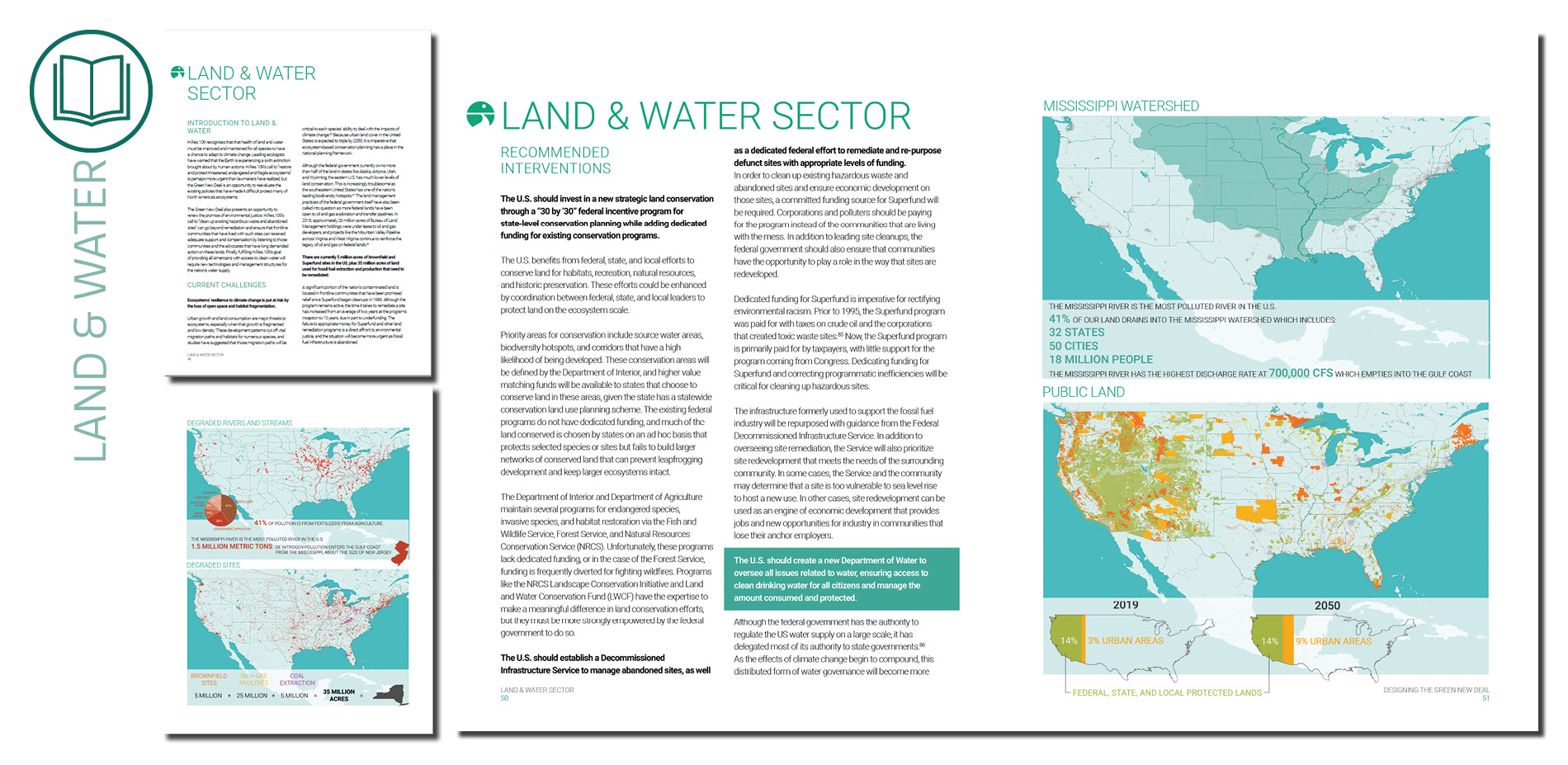 Report: Water and Land Sector