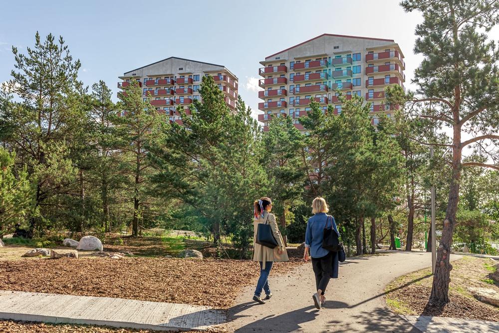 Ikano Bostads första kvarter i Årstahusenhar blivit en del av Stockholms stadsbild.