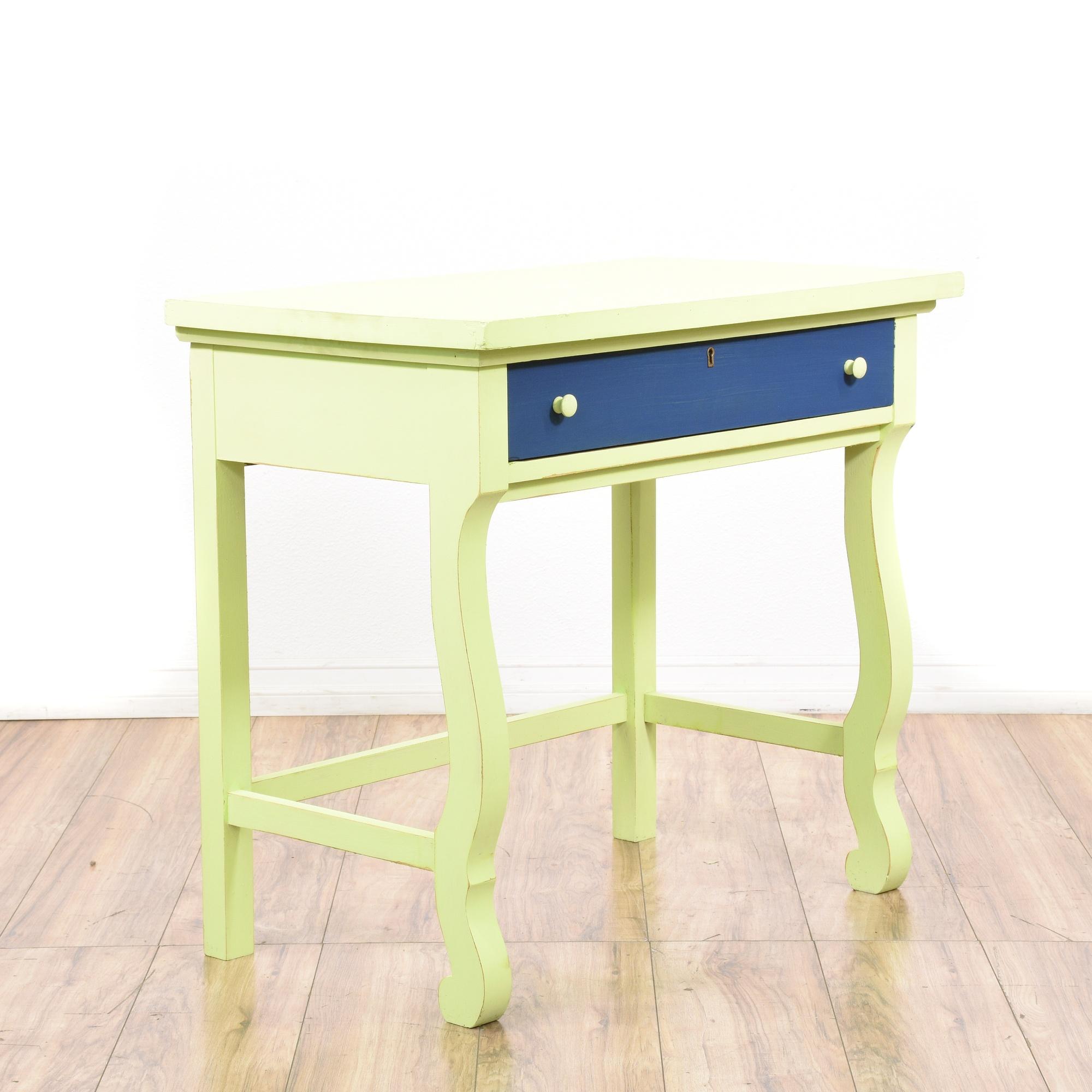 Empire Style Blue Cream Writing Desk Loveseat Vintage Furniture San Go