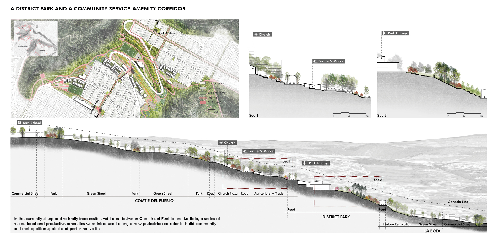 A District Park and a Community Service-Amenity Corridor