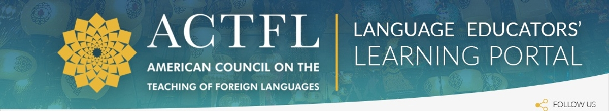 Top page banner for ACTFL.