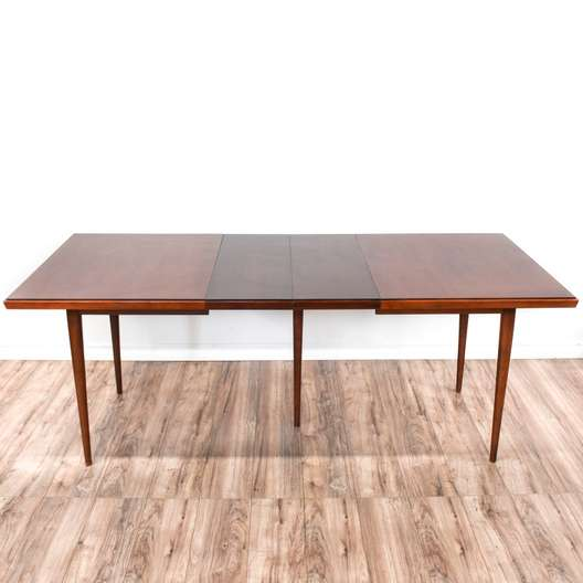 Mid Century Modern Cherry Dining Table w/ Leaves