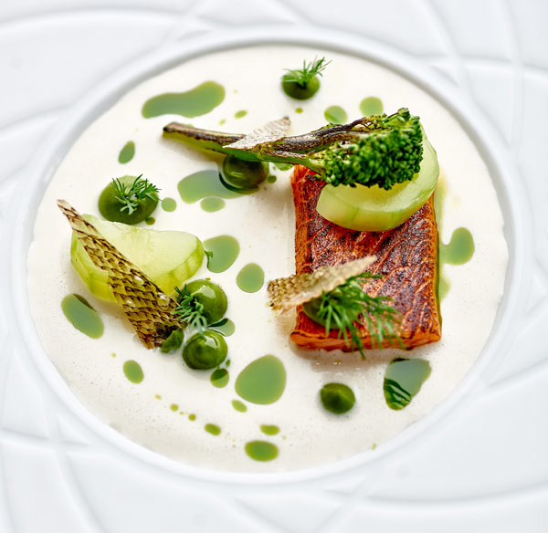 Poached sea trout