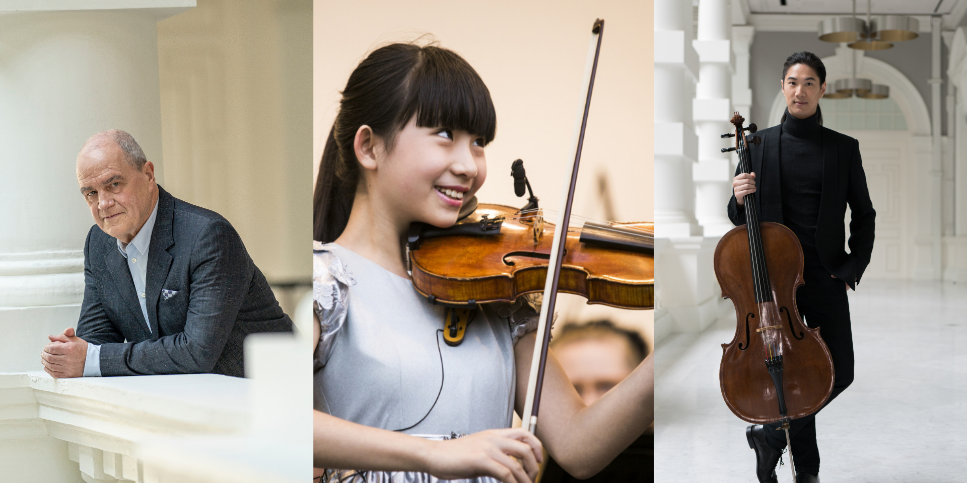 SSO announce new online concerts featuring Chief Conductor Hans Graf, violinist Chloe Chua, and cellist Ng Pei-Sian