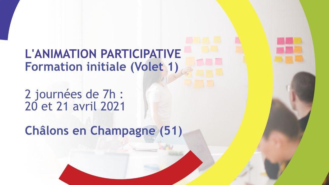 Représentation de la formation : L'animation participative - Formation initiale (volet 1) - Châlons-en-Champagne (51)