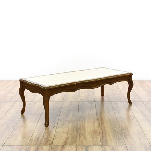 Mersman Marble French Provincial Coffee Table Loveseat Online Auctions San Diego