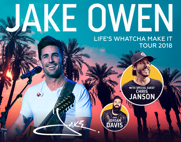 IAH- Jake Owen, August 24, 2018, gates 5pm