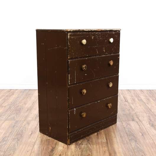 Distressed Brown Shabby Chic Dresser