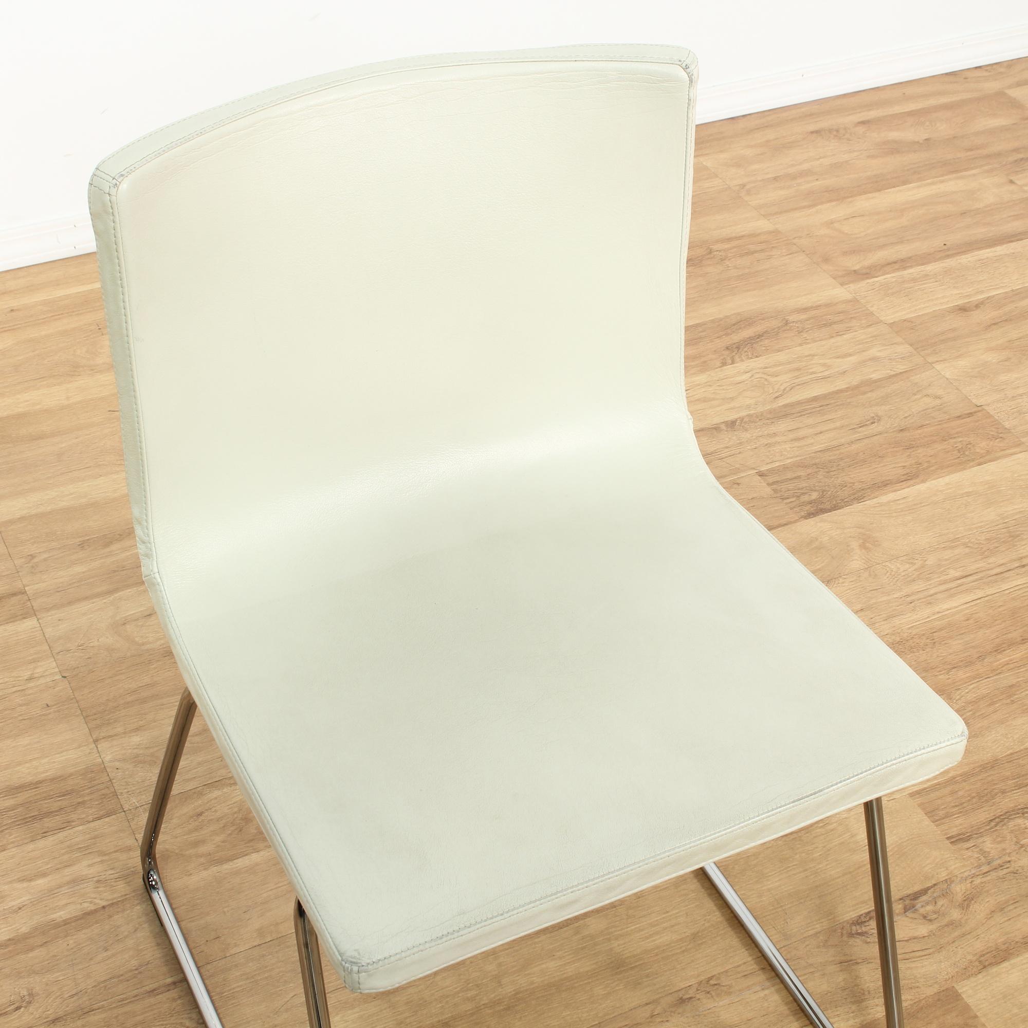 Mid Century Modern White Chair Loveseat Vintage