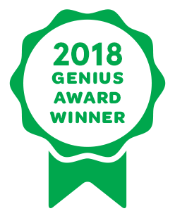 Genius Awards 2018 winner badge